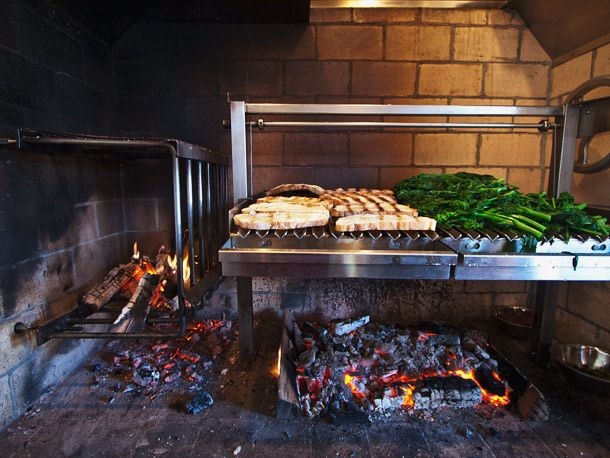 First Look: Red Hen, Washington DC Red Hen's stone wood burning hearth and custom Grillworks grill.