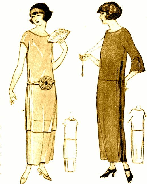INSTANT DOWNLOAD-Vintage 1920s Downton Abbey flapper dress sewing pattern- very easy make - PDF. $2.99, via Etsy.