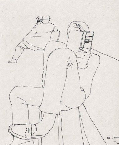 david hockney line drawing
