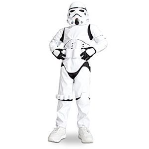 Disney Stormtrooper Costume for Boys - Star Wars | Disney StoreStormtrooper Costume for Boys - Star Wars - Fit for a meeting with the Emperor! Wearing our segmented white vinyl armor, mask, gloves, and shiny utility belt, there will be no better dressed Stormtrooper on the deck of the Death Star.