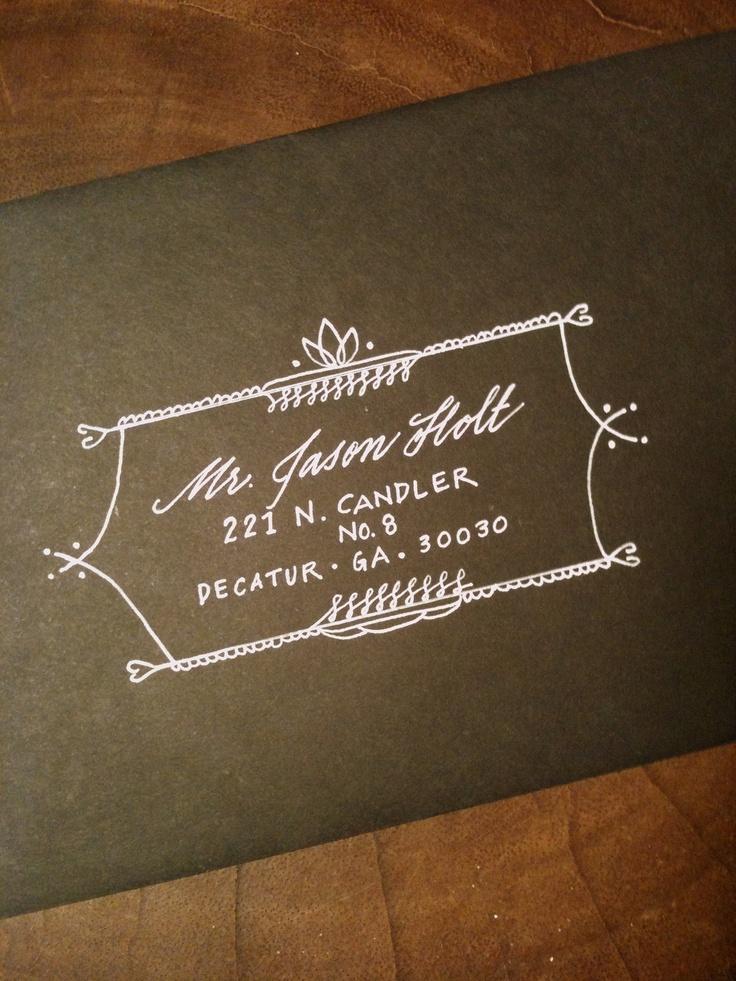 50 envelopes Cleopatra Style Design and Lettering. $85.00, via Etsy.