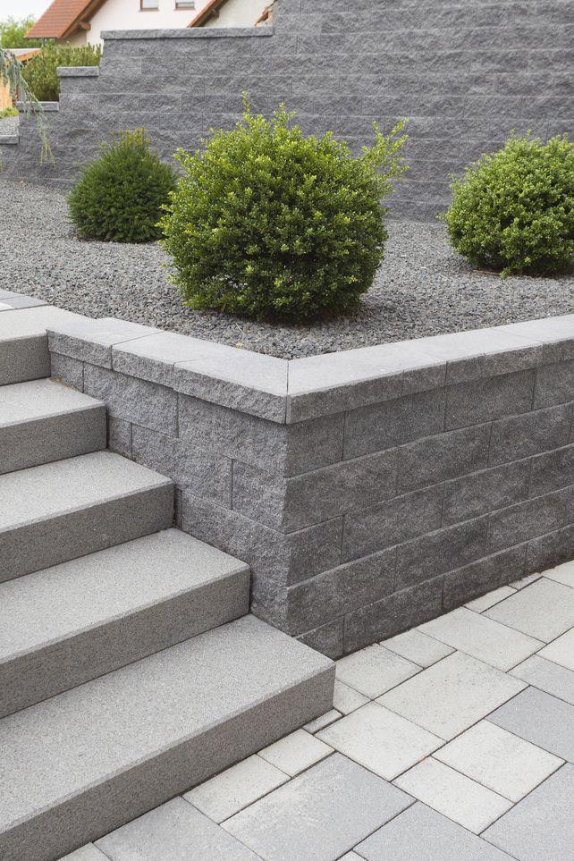 Design geral harmonioso da área externa com projeto de concreto coordenado …   – Mauern