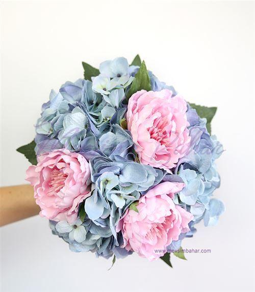 Gelin Çiçeği Mavi Ortanca Şakayık