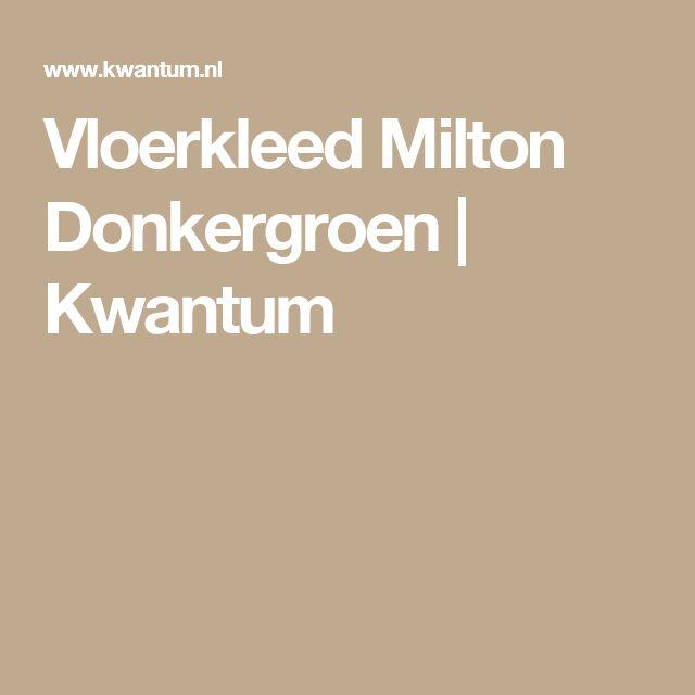 Vloerkleed Milton Donkergroen | Kwantum