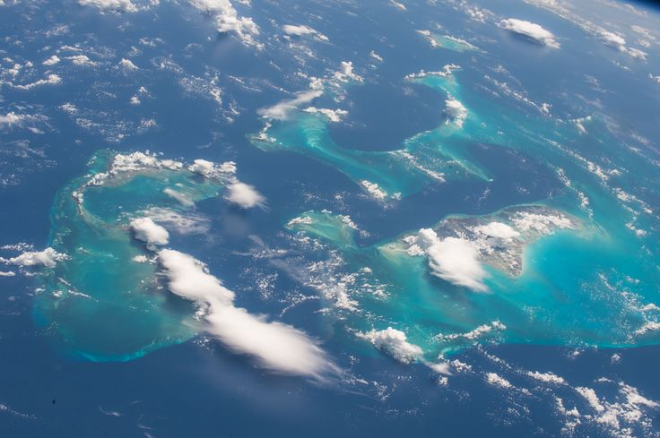 Space Station Flight Over the Bahamas