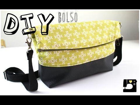 DIY: Tutorial Bolso estilo clutch. PATRONES GRATIS - YouTube
