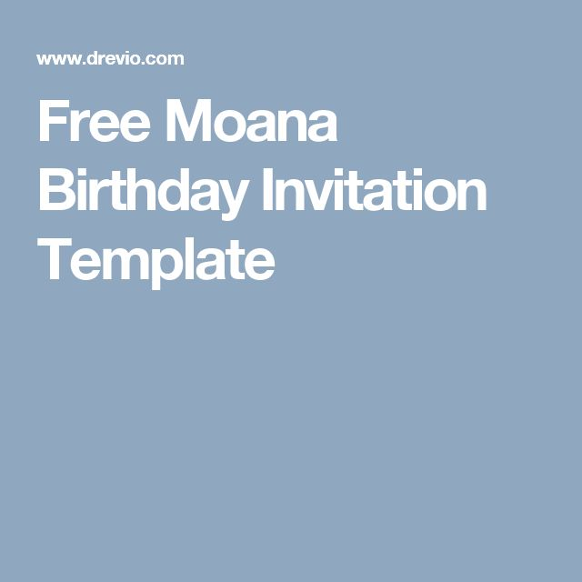 Free Moana Birthday Invitation Template Birthday