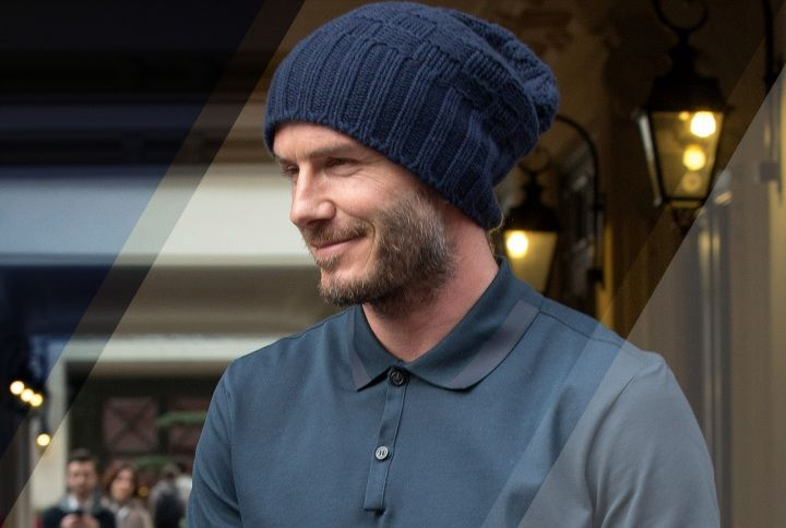 David Beckham is the reigning king of beanie-wear.