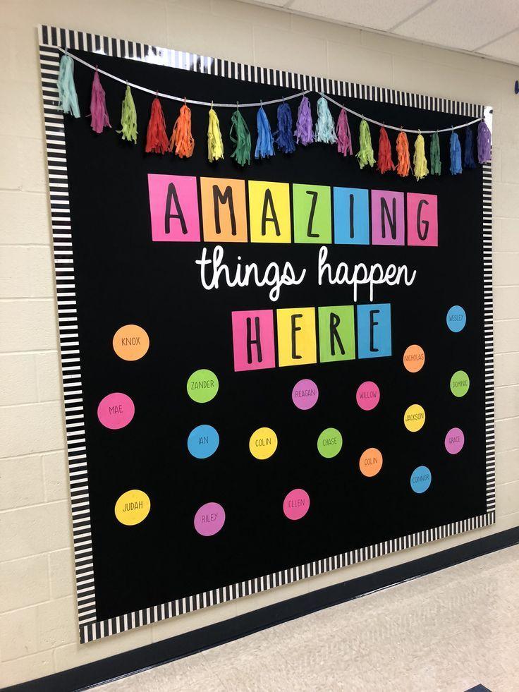 Colorful Bulletin Board Diy Classroom Decorations Classroom Board Diy Classroom