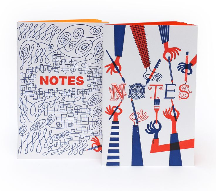 Klas Fahlen Letterpressed Notebooks// Quite cute!  This is why I love Chronicle Books!