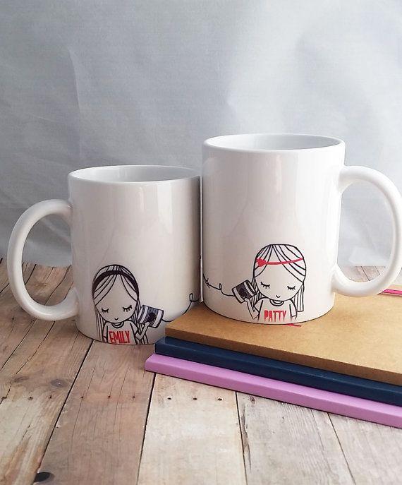 Best Friend Long Distance Coffee Mug van SincerelyEunice op Etsy