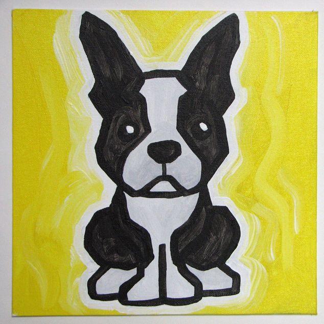4th Boston Terrier « Ali Spagnola's Free Paintings