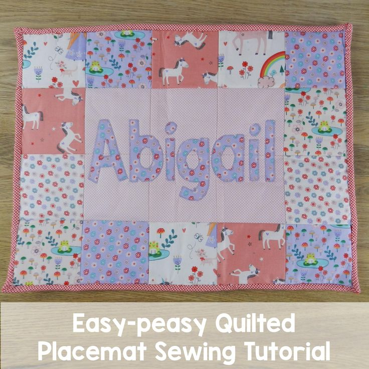 Checkout our easy peasy sewing tutorial for quilted placemats - using #pellon and #heatnbond to take the stress out of quilting and perfect points!   Love the fabric?  It is #rileyblake's princess dreams collection - available at printstopolkadots.co.uk