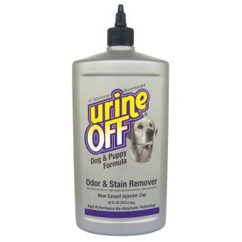 Urine Off Dog Formula Bullet Bottle with Carpet Injector Cap allows you to inject Urine Off deep into the carpet, pad, and sub-flooring much more effectively than with the traditional trigger sprayer.