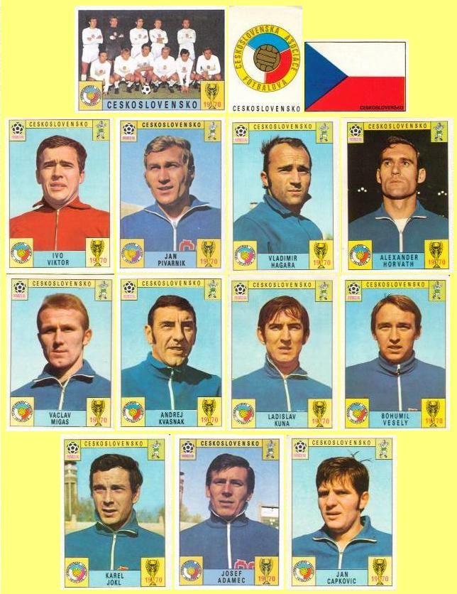 Panini stickers 1970 FIFA World Cup Mexico - Czechoslovakia squad