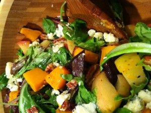 acorn squash and goat cheese salad | Savoury | Pinterest