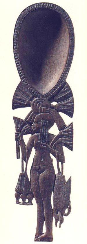 Cuchara con muchacha. Imperio Nuevo. Museo del Louvre, París. Foto en E. DELANGE,