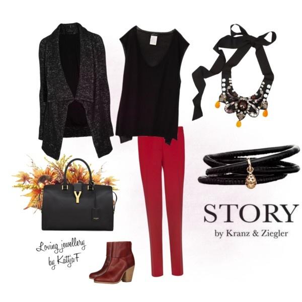 """STORY by Kranz & Ziegler and Lanvin necklace"" by kattjaf on Polyvore"