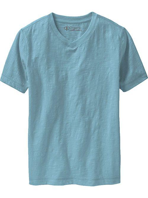 V-Neck Tees Slub-Knit Boys, 100% organic cotton