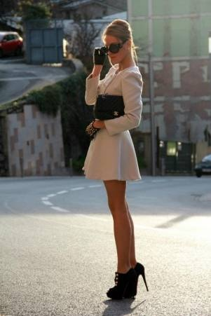 black & white, classic.: Shoes, Chanel, Chic, Style, Dresses, Outfit, Jackets, Gloves, Coats