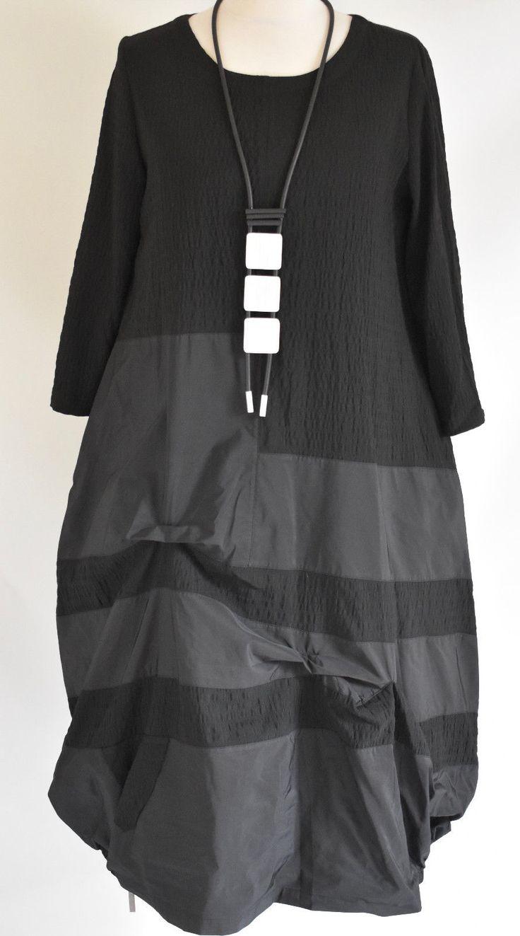 GERMAN ZEDD.PLUS quirky/lagenlook PARACHUTE DRESS NECKLACE SIZE XL/XXL BLACK   eBay
