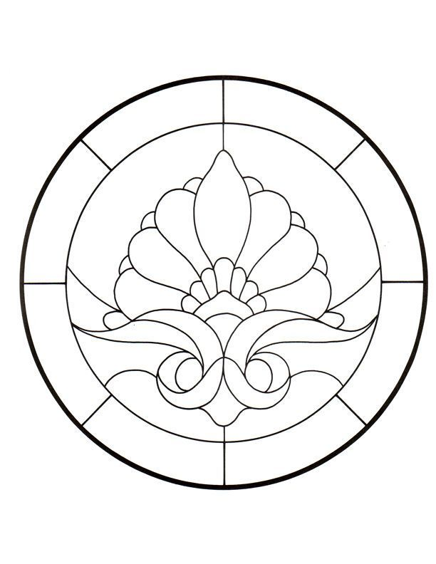 complex stained glass coloring pages - photo#23