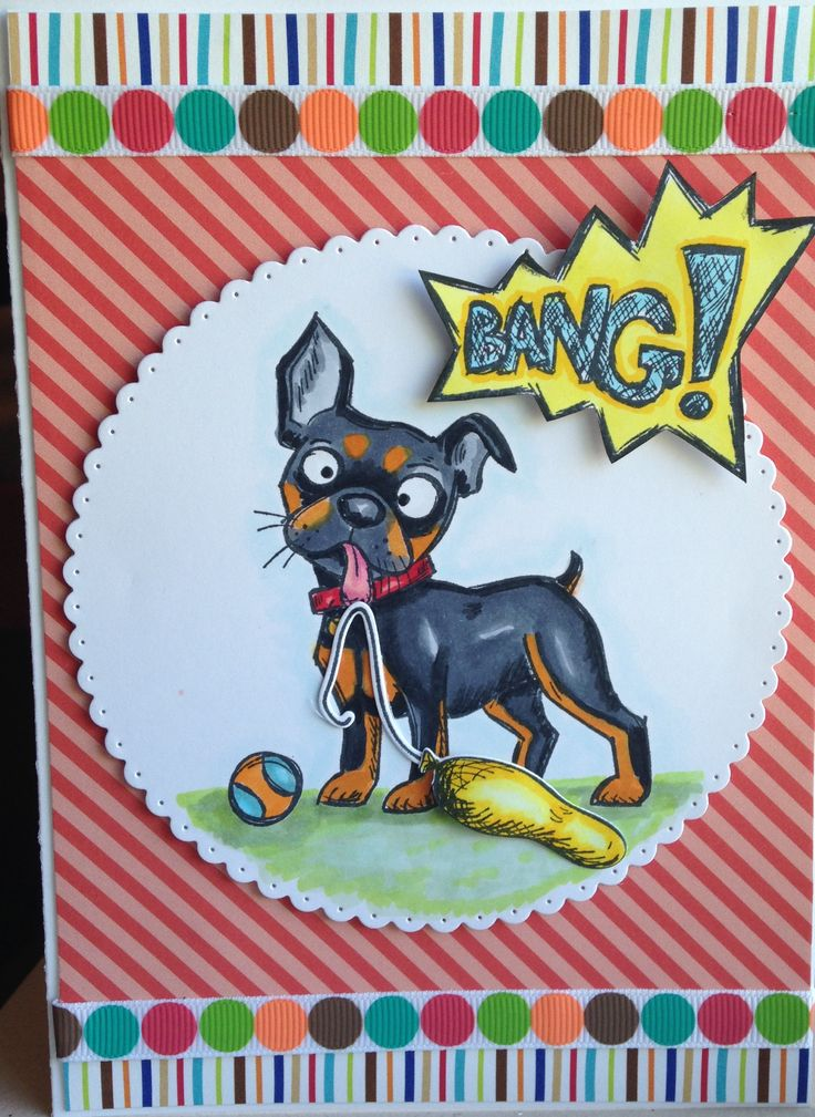 Tim Holtz Crazy Dogs; Puppy Love by Doodlebug Designs; Simple Life Dots and Stripes by Deena Rutter Echo Park Paper Co