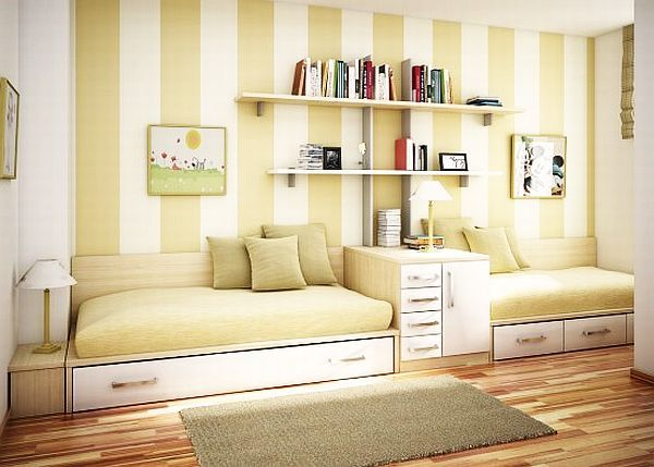 55 Motivational Ideas For Design Of Teenage Girls Rooms - some might work for boys just change colors or patterns.