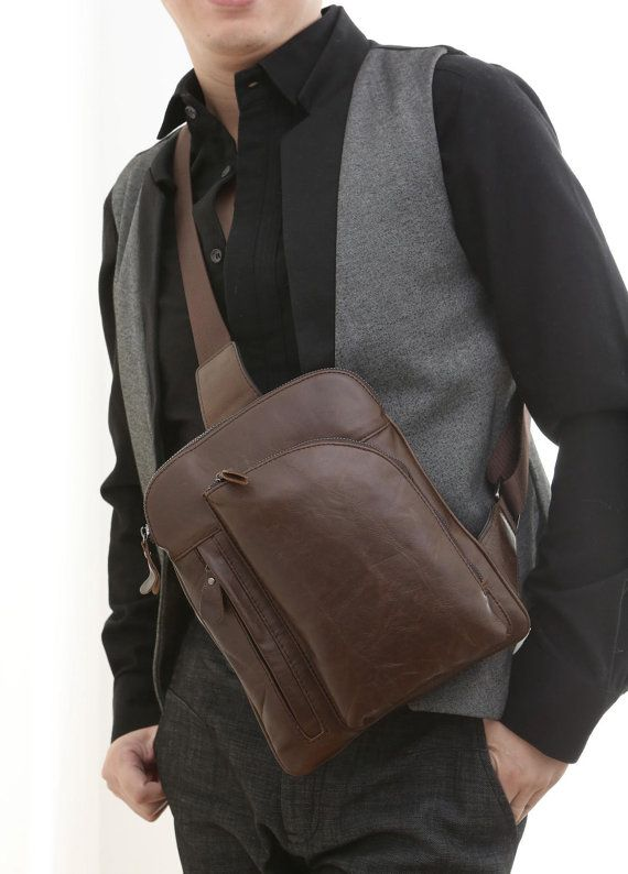 Handcrafted Leather Chest Bag  / Messenger by MooshiLeatherDesign, $59.00