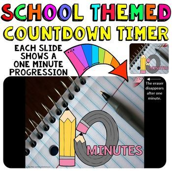 This is a fun countdown timer that has a pencil theme for back to school. It can also be used any time throughout the year. Countdown timers can be helpful for activities such as: Timed math tests, game time, center rotations, meeting with a partner, turn and talk times, sustained silent reading, and more. Find my other