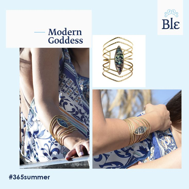 Simple, elegant, unique! In other words a Ble bracelet made of gold and further decorated with a gorgeous jewel! You can wear it wrapped around your wrist or higher to create a sensual and mysterious vibe, like a real modern goddess.  Discover it here http://www.ble-shop.com/accessories/jewellery/bracelets/metal-bracelet-in-gold-color-with-silver-print.html