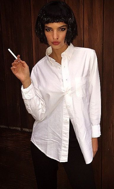 best 25 mia wallace costume ideas on pinterest pulp fiction costume pulp fiction halloween. Black Bedroom Furniture Sets. Home Design Ideas