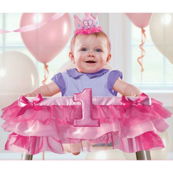 1st Birthday Girl High Chair Decorating Kit