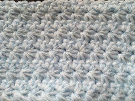 How To make #Crochet Star Stitch #Pattern Tutorial #CrochetGeek Red Heart Yarn Savannah Georgia - YouTube