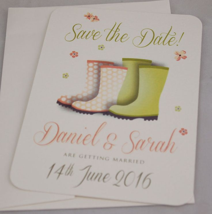 save the date wedding stationery uk%0A Festival Wedding Save the Date Cards   Wedfest   Welly Boots   Wedding in a  field