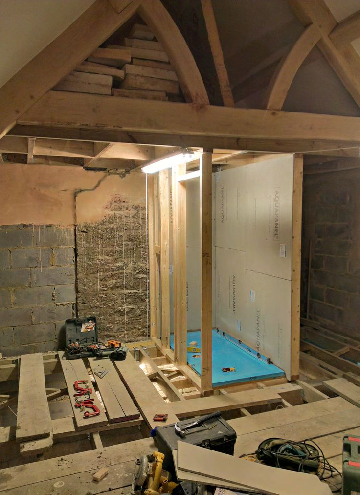 Floor joists in and work starting upstairs