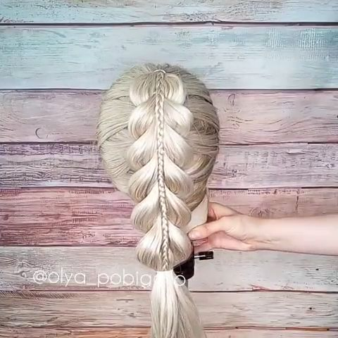 "New easy braid. ❤ I think it's perfect Back to school style.  What do you think?   💰Use code ""PIN"" to save 50% OFF $$ #braids #hairtutorial #hairvideo #hairstyletutorial #hairstylevideo #braidideas #back2school #easybraids #easyhairstyles #kidshairstyles #kidsbraids #hairdo #hairinspo"