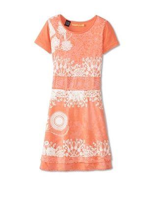 55% OFF Desigual Kid's Short Sleeve Dress (Peach)