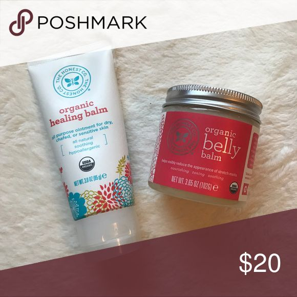 Organic Healing Balm and Belly Balm Bundle The Honest Co. Organic Healing Balm and Organic Belly Balm. Both are brand new products. Never used. Cruelty Free organic products.   💜Fast Shipping 💜Bundle to Save Big The Honest Company Other