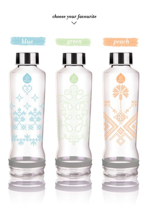 Lavivavera for EQUA {limited edition} #waterbottle #glassbottle #glassbottles #patterns #equa #lavivavera