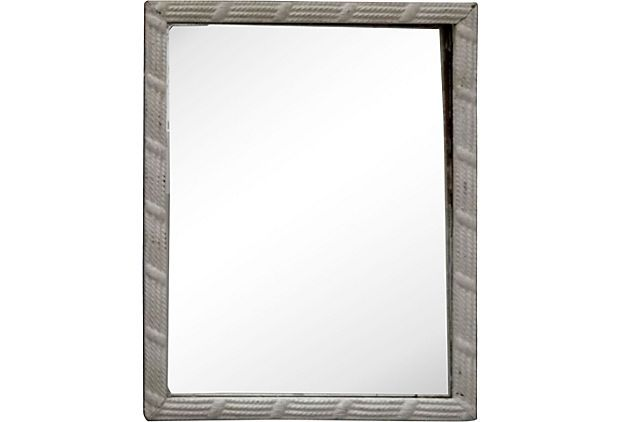 bathroom mirror?  Nautical Framed Mirror on OneKingsLane.com