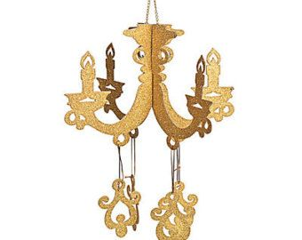 Classic Chandelier Paper Chandelier Hanging by FabParlor on Etsy