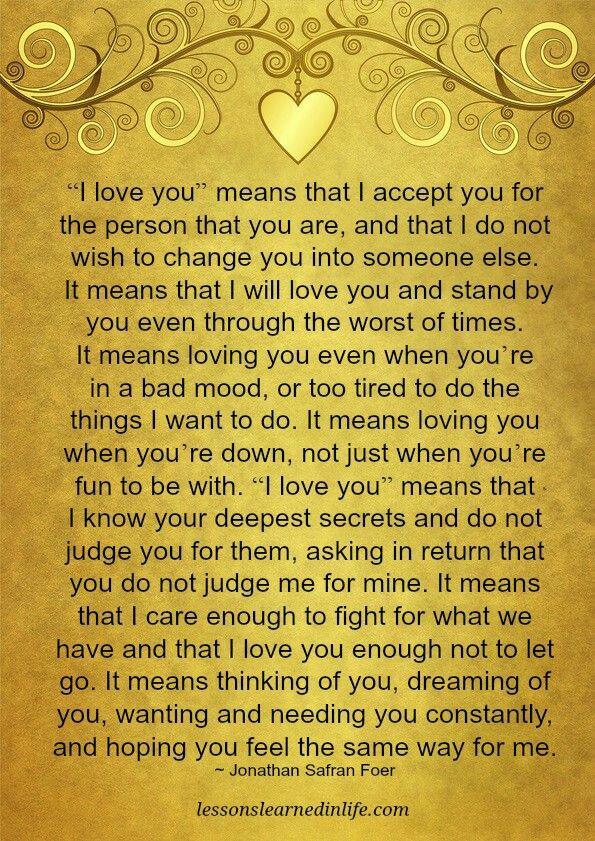 """""""I love you"""" means..."""