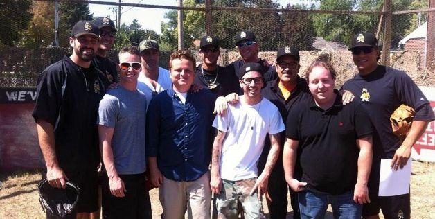 The reunited cast from 'The Sandlot' - © @MattShoemaker33 via Twitter