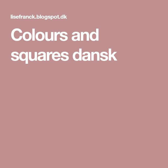 Colours and squares dansk