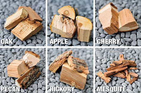 Types of Wood -- Love Apple and Cherry; found the Pecan to be a bit bitter (Mesquite and Hickory are suppose to be similar); want to try Oak or Maple if I can find them