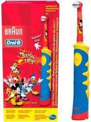 Орал-Би щетка зубная электрическая Mickey for kids D10.513 для детей  — 2797р.  Электрическая зубная щётка Oral-B Kid`s Power разработана стоматологами специально для детей от 3-х лет. Она отличается ярким диснеевским дизайном с Mickey Mouse, который так нравится детям и позволяет превратить чистку зубов в увлекательную и веселую игру. Дети чистят зубы с удовольствием!    Преимущества детской электрической зубной щётки Oral-B Kid's Power Toothbrush D10.513K:    Маленькая круглая головка…