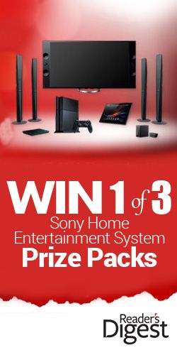 Win 1 of 3 Sony Home Entertainment System Prize Packs