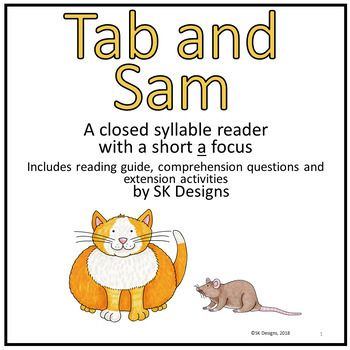 A Closed Syllable Reader For Beginning Readers With Decoding Comprehension And Enrichment Activity Instructions
