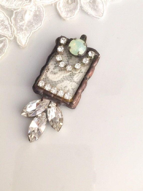 486 best soldered pendants images on pinterest jewelry ideas lace pendant soldered jewelryvintage lace pendant stained glass pendant soldered pendant aloadofball Images